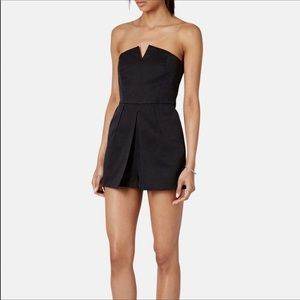 Topshop Notched Neck Romper In White